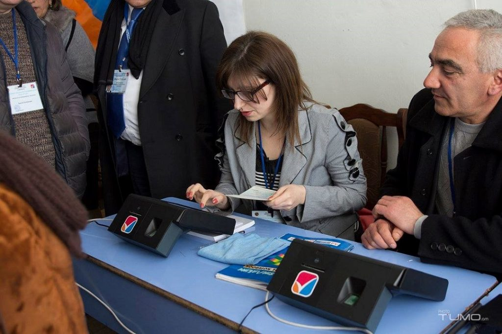 EC-UNDP JTF - New Voter Identification Device tested in Armenia