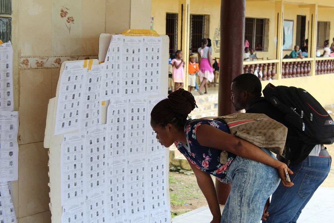 Liberia exhibition of voter register