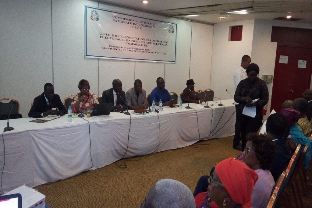 EC-UNPD JTF - Electoral Commission in Guinea is planning electoral operations for upcoming local elections