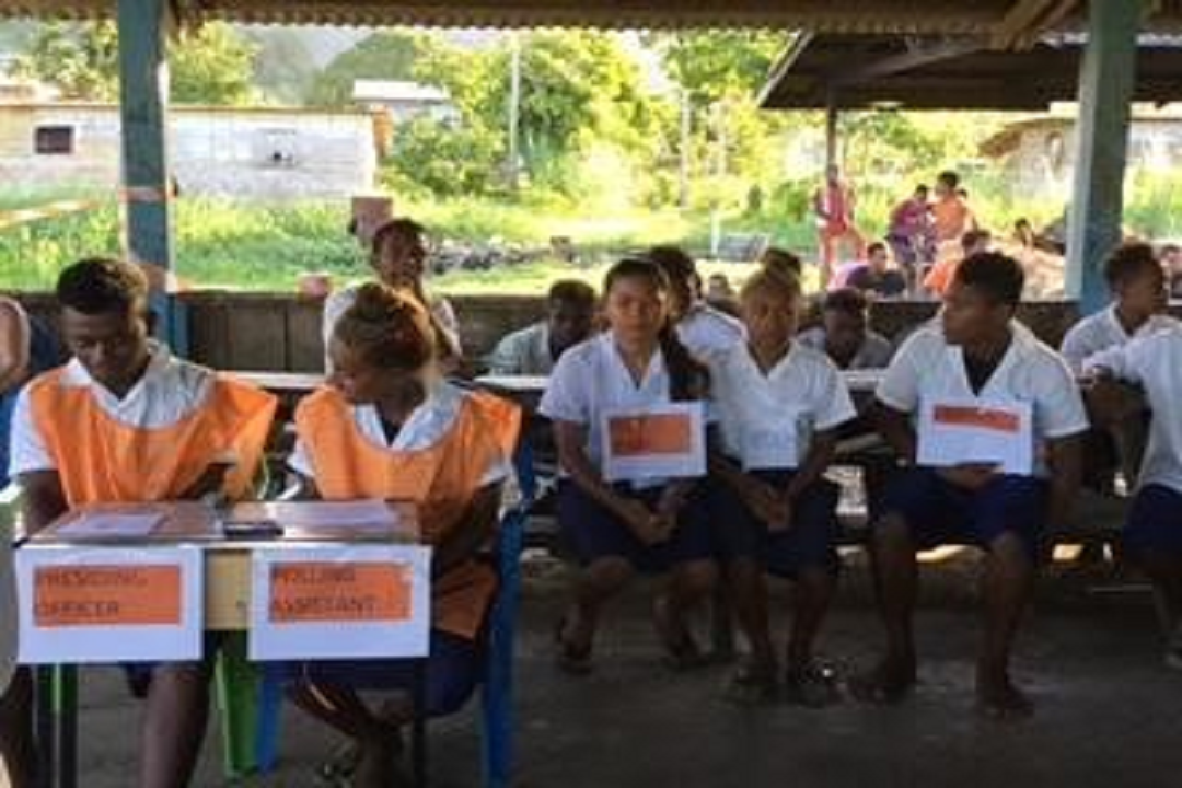 School Essay and Poster competition on Women's Leadership and Political Participation in Solomon Islands
