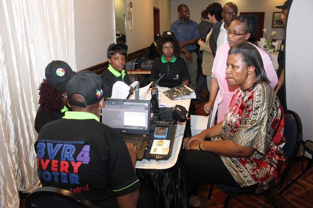 EC-UNPD JTF - Biometric voter registration ongoing in Zimbabwe