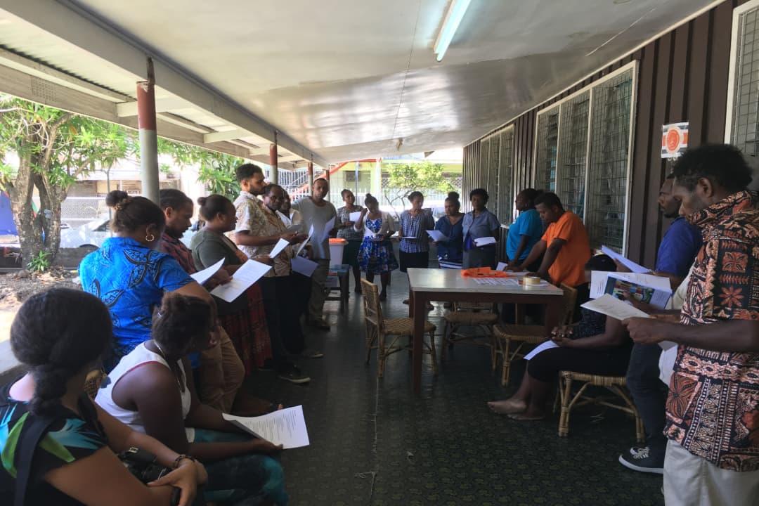A workshop on voter awareness in Solomon Islands