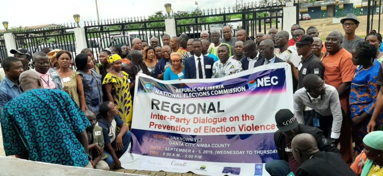 Press release liberia interparty dialogue prevention electoral violence
